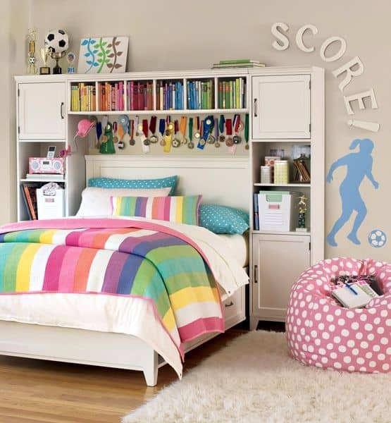18 teenage bedroom ideas suitable for every girl for Bedroom ideas for a small room for a teenager
