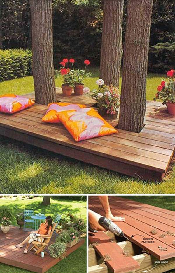 Small Deck Ideas Part - 26: 19 Stunning Low-budget Floating Deck Ideas For Your Home Homesthetics Decor  (2)
