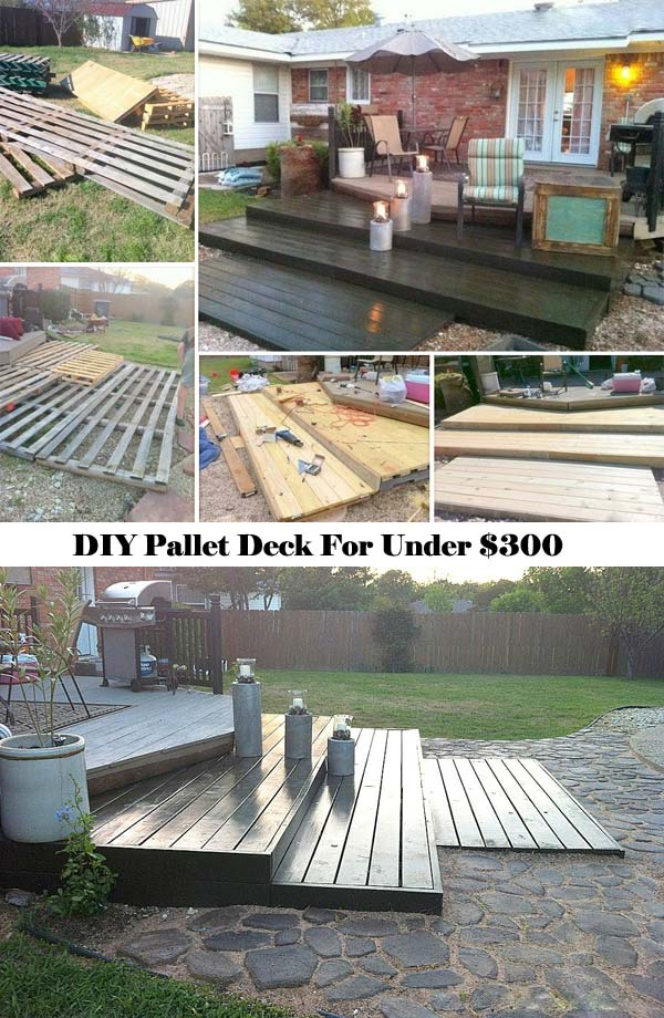 Wonderful #5 Terraced Diy Pallet Deck Built For Less Than $300