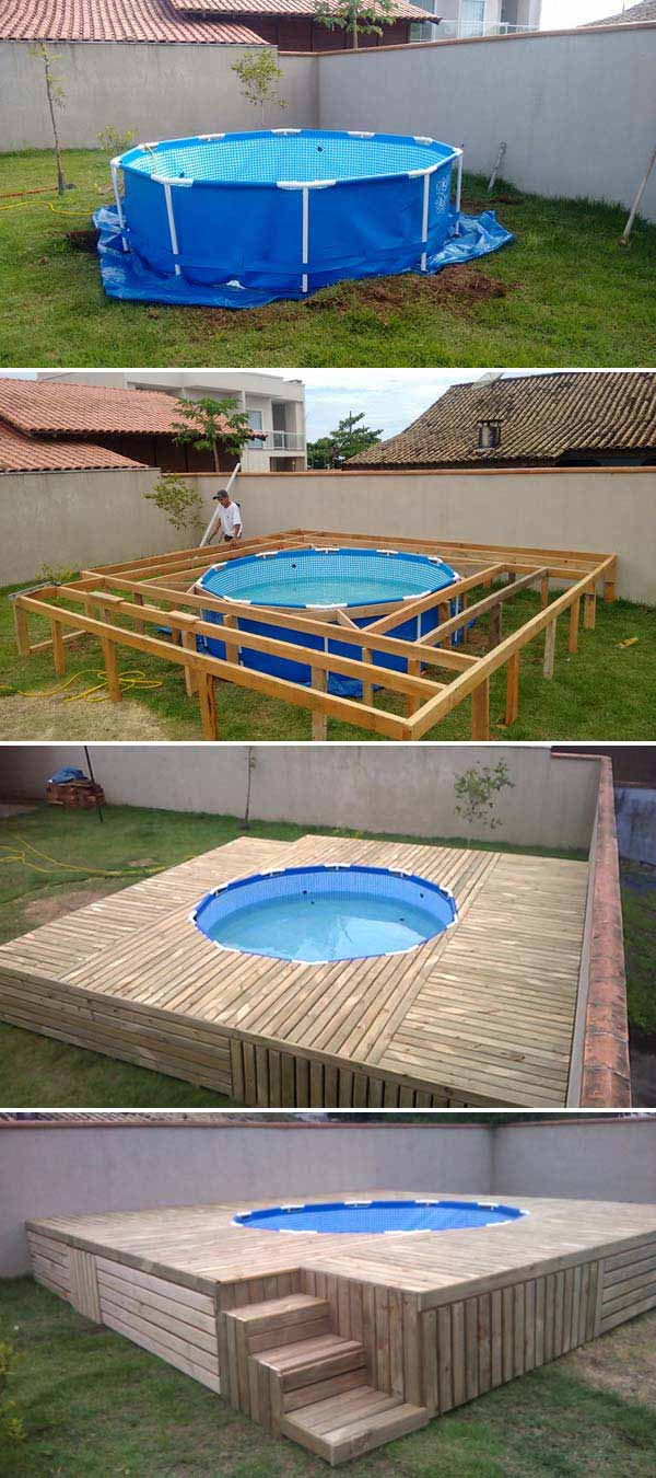 8 Build A Deck Around Your Above Ground Swimming Pool