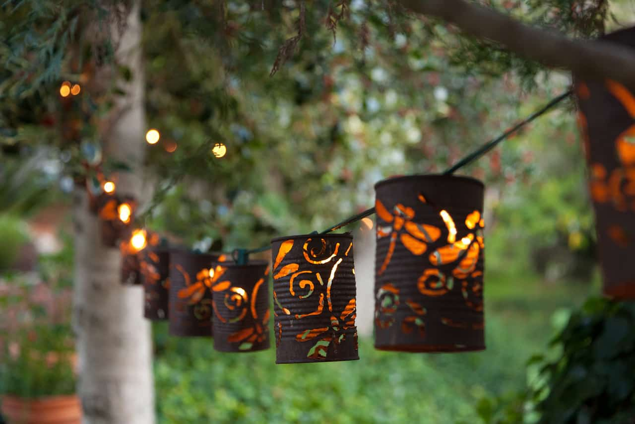 How to make tin can lanterns - 23 Uniqu E Beautiful Diy Garden Lanterns Homesthetics 12