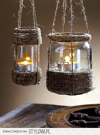 11. MASON JARS TRANSFORMED BY TWINE