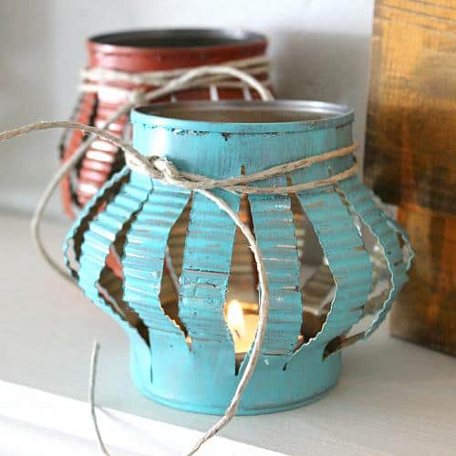 19. TIN CAN TEA LIGHTS