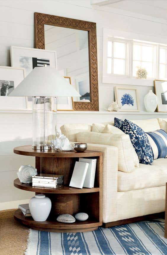 9. AN ELEGANT APPROACH TO A SIDE TABLE