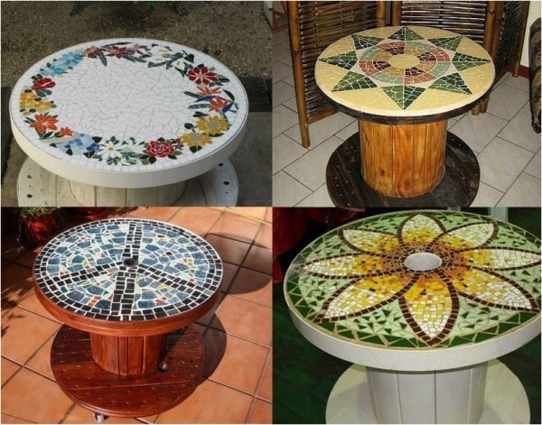 13. MOSAIC COMPOSITION ON A SPOOL BASE