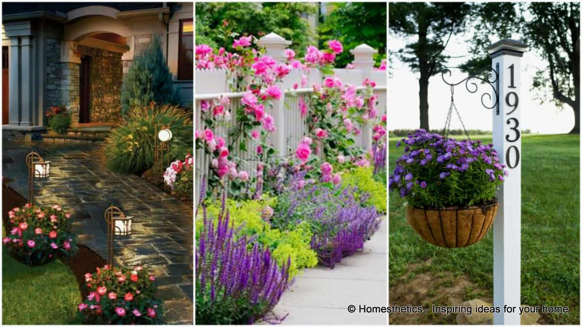 16 curb appeal ideas to enhance and draw attention to the for Curb appeal garden designs