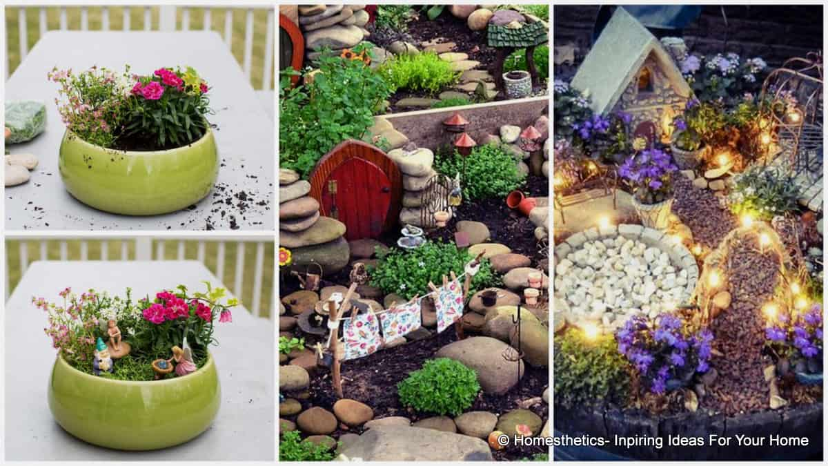 16 do it yourself fairy garden ideas for kids for Fairy garden decorating ideas