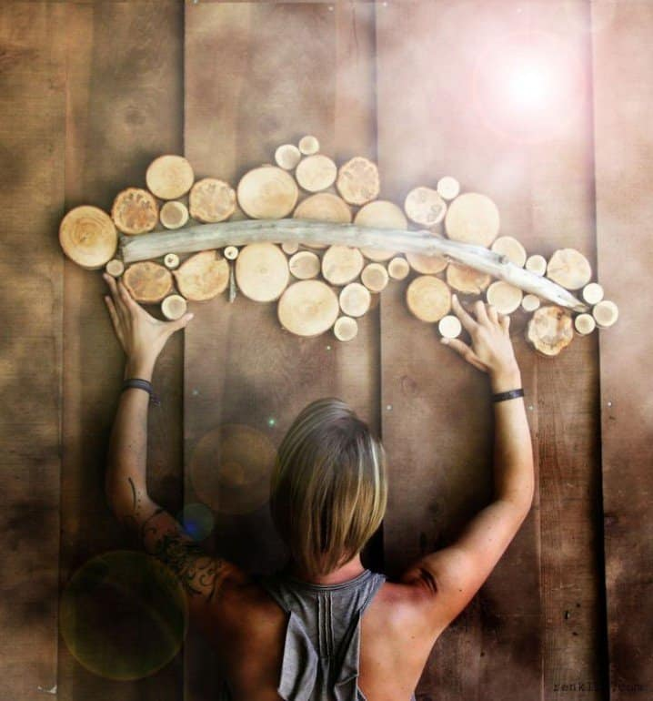 22. log slices forming a wall art piece. Tree-Trunk- ... & 35 Tree Trunk Ideas For A Warm Decor - Homesthetics - Inspiring ...