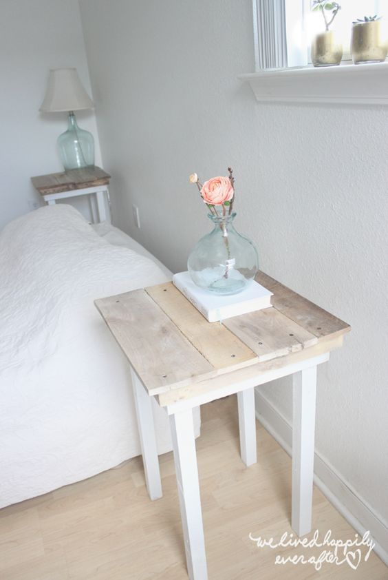 1. TRANSFORM A SIMPLE TABLE WITH A WOODEN TOP