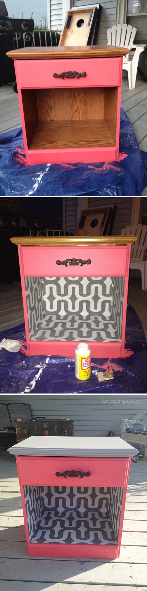27. CORAL NIGHTSTAND NESTLING INTRICATE TEXTURES