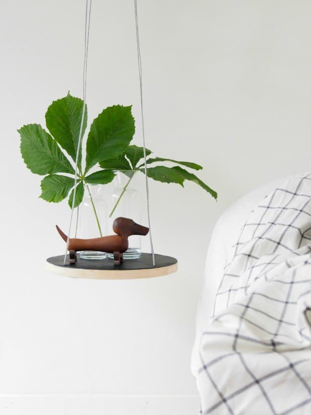 30. CREATE A COOL PETITE FLOATING NIGHTSTAND