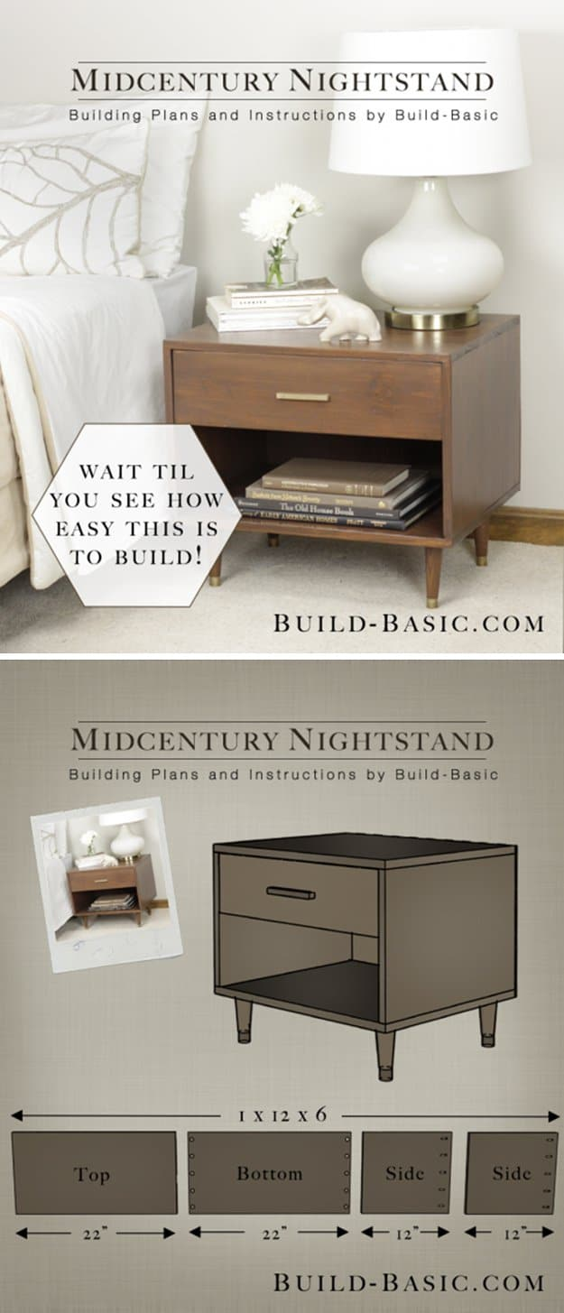 24. BUILD A MID-CENTURY NIGHTSTAND