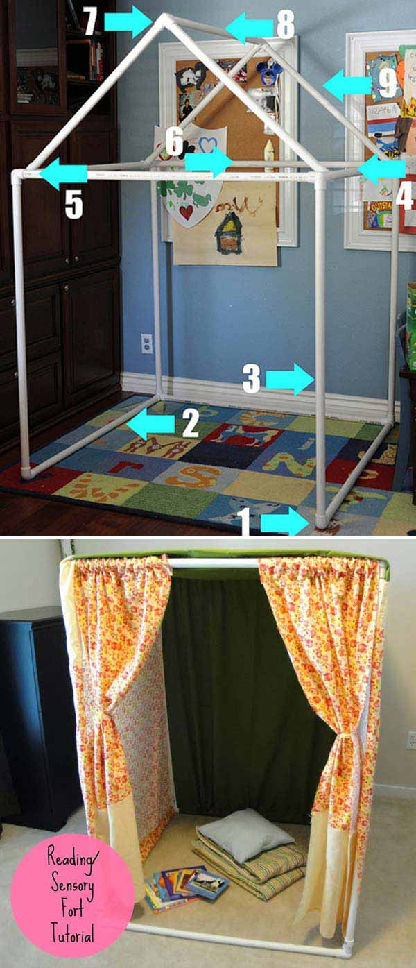16. CREATE A PVC PIPE PLAY SMALL HOUSE