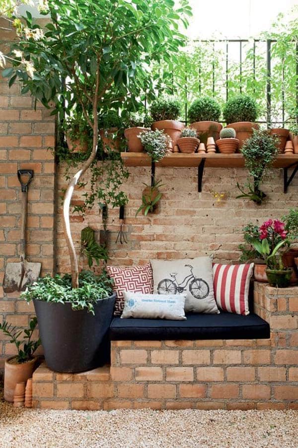 23 Beautiful and Ingenious Brick Projects For Your Home homesthetics decor (13)