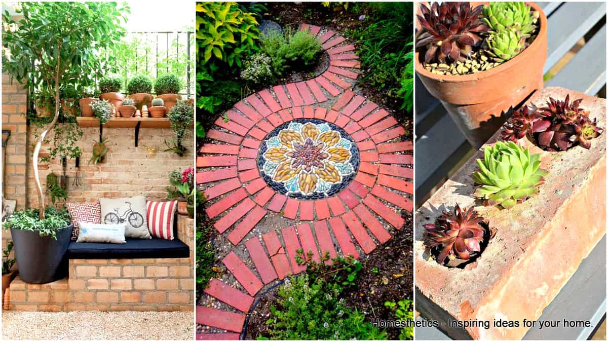 23 beautiful and ingenious brick projects for your home for Diy brick projects