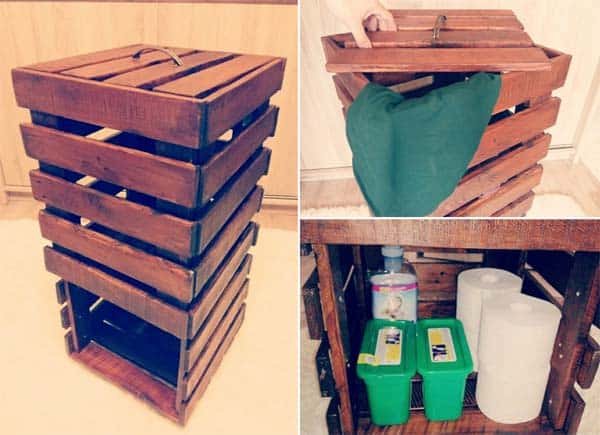 12. CREATE A NEAT WOODEN STORAGE UNIT