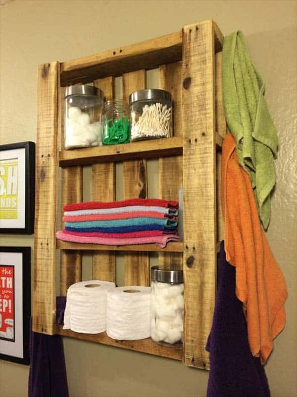 13. BUILD OPEN SHELVING OPTIONS WITH PALLETS