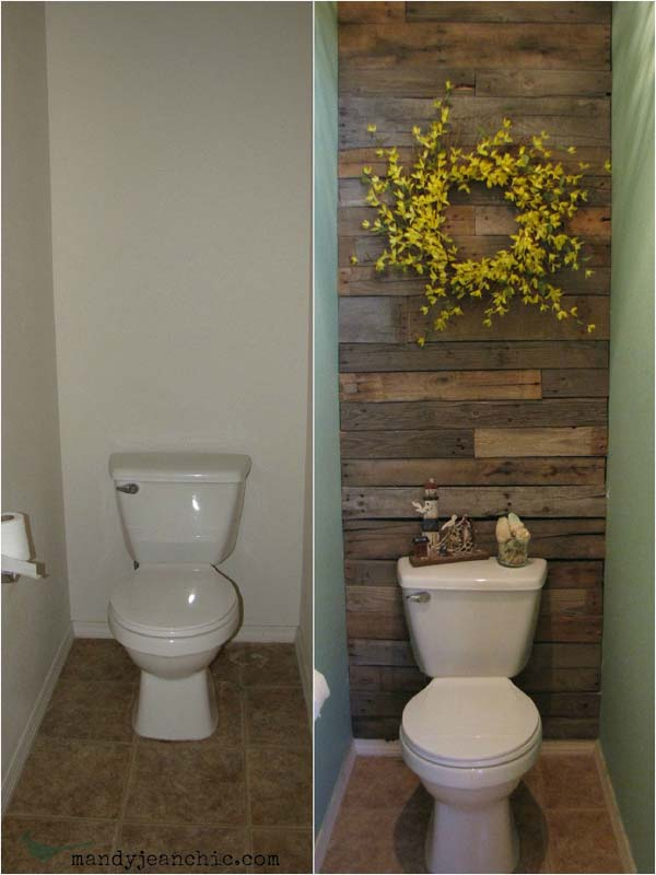 15 wooden wall accent realized with salvaged