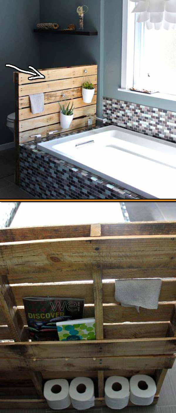 27 Beautiful Diy Bathroom Pallet Projects For A Rustic Feel Homesthetics Inspiring Ideas For Your Home