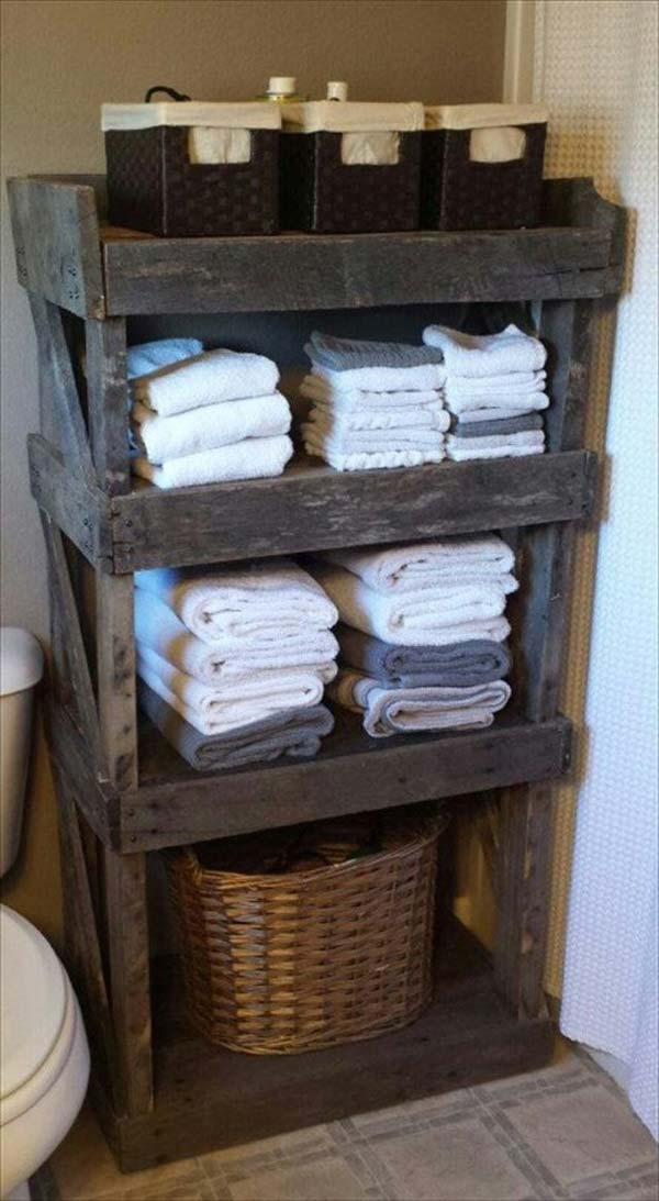 2. UPCYCLE A PALLET INTO A NEAT STORAGE PIECE