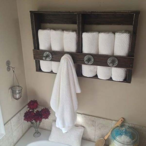 23. TOWEL RACK AND STORAGE IN A SIMPLE UNIT