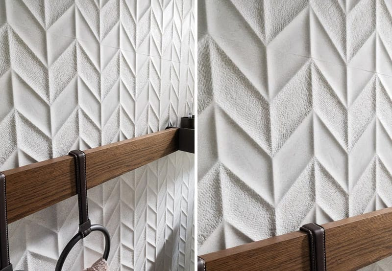 25 Spectacular 3D Wall Tile Designs To Boost Depth and Texture homesthetics ideas (18)