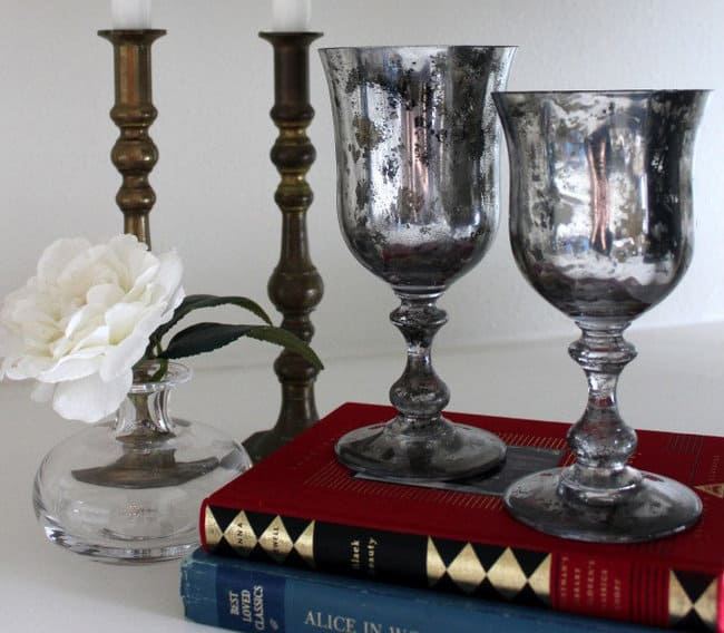 15. Create the right setting with mercury glass goblets