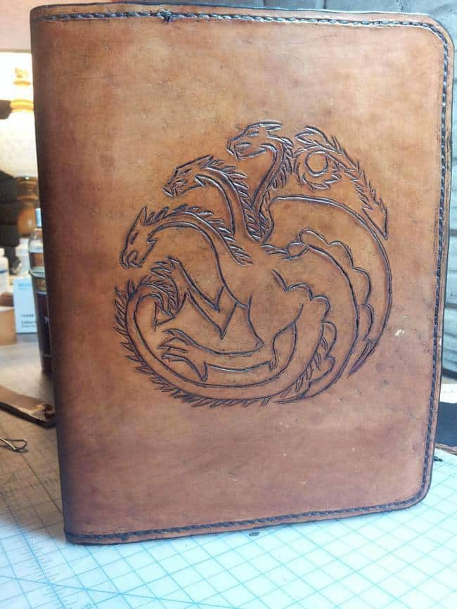 25. Engrave the cover of a journal
