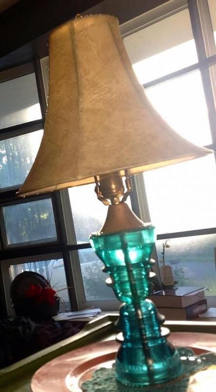 15. re-purposing an old lamp