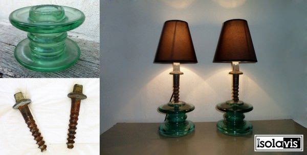 30 Delicate Projects That Repurpose Old Glass Insulators