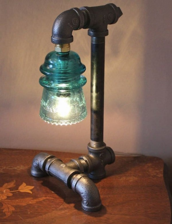 11. old pipes and glass insulators