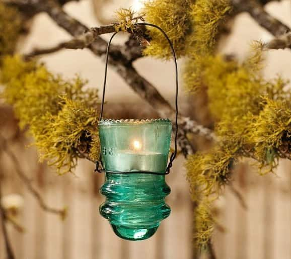 2. the perfect lantern for hanging outdoors