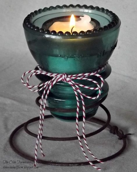 1. glass insulator candle-holder