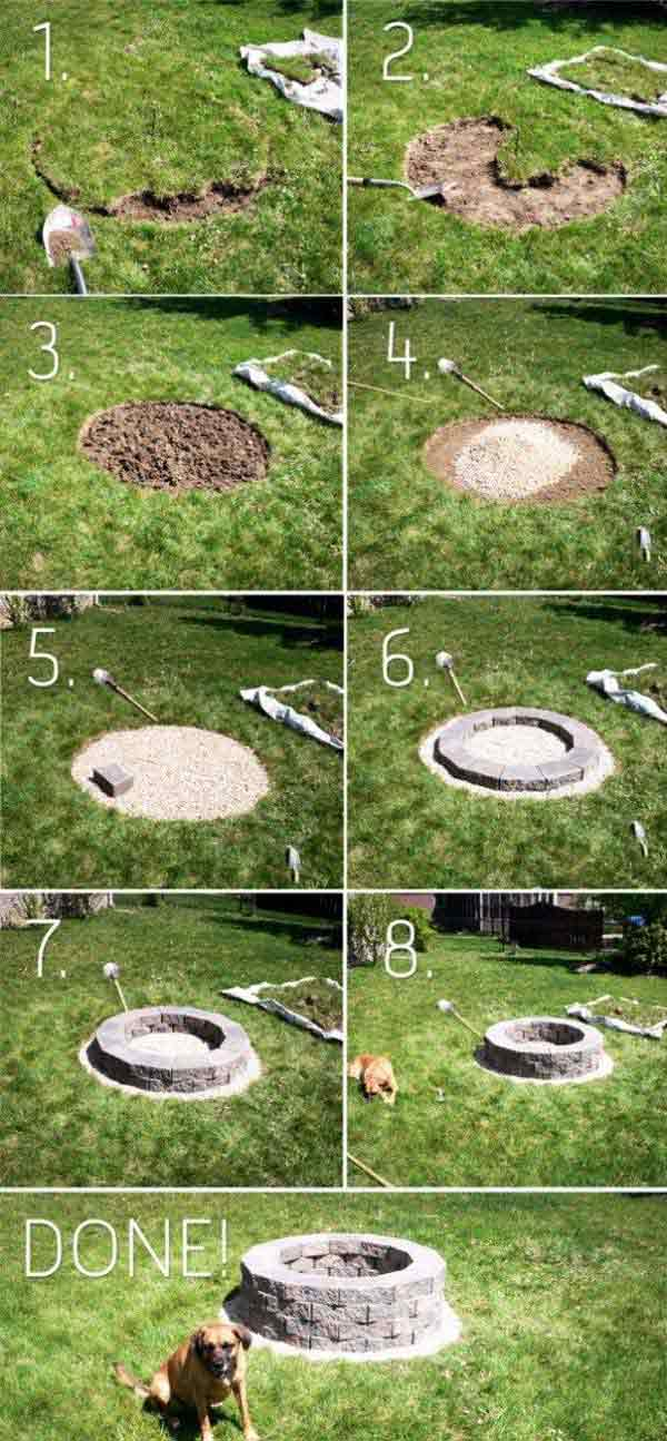 SIMPLE HOME MADE CIRCULAR DIY FIRE PIT