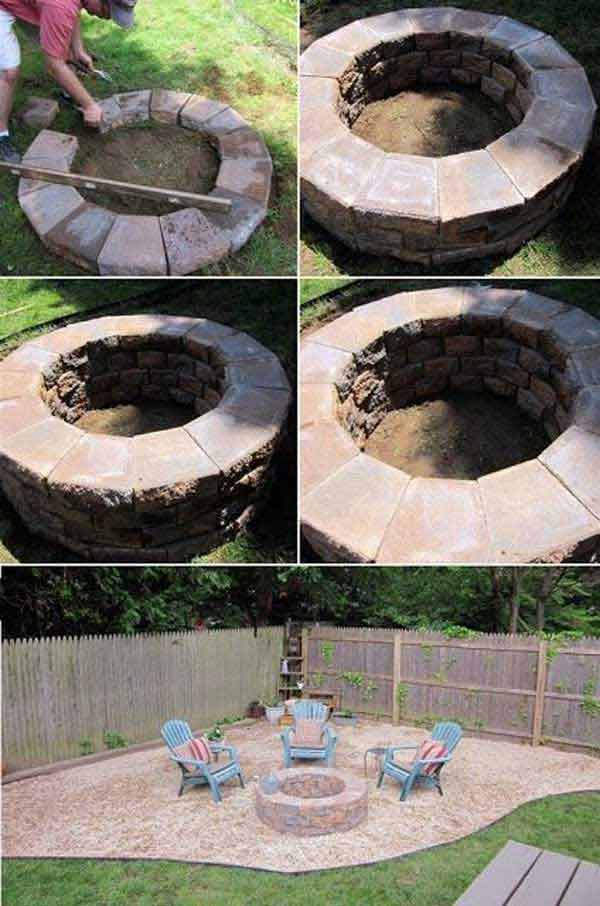 FAST AND EASY TO REALIZE DIY FIRE PIT
