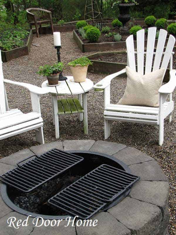 SIMPLE NON-INVASIVE DIY FIRE PIT GARDEN NESTLED IN THE GARDEN
