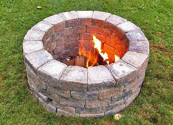 CIRCULAR NATURAL STONE DIY FIRE PIT
