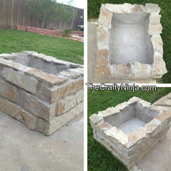 CONCRETE WRAPPED IN ROCK FIRE PIT