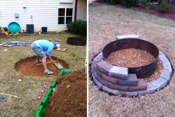 39 easy to do diy fire pit ideas for Do it yourself fire pit designs