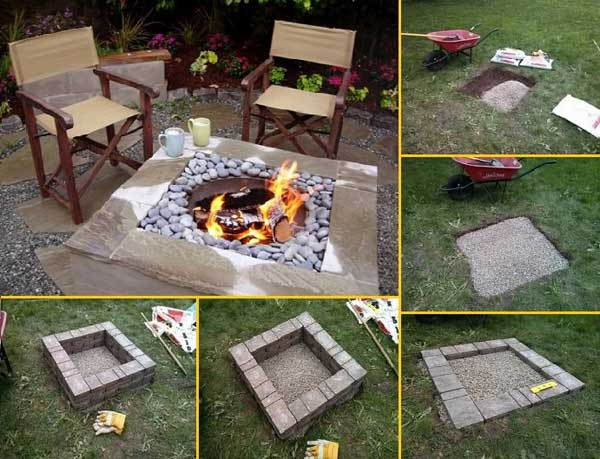 RECTANGULAR DIY FIREPITS CAN BE BUILT WITH EASE