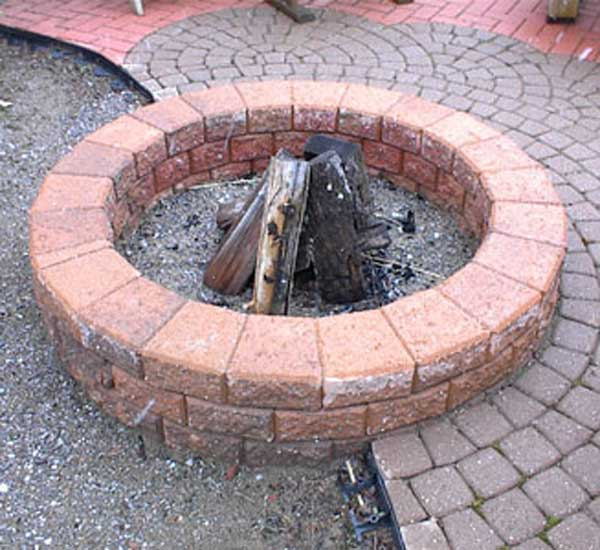 COLORFUL COMPLETE FIRE PIT AREA