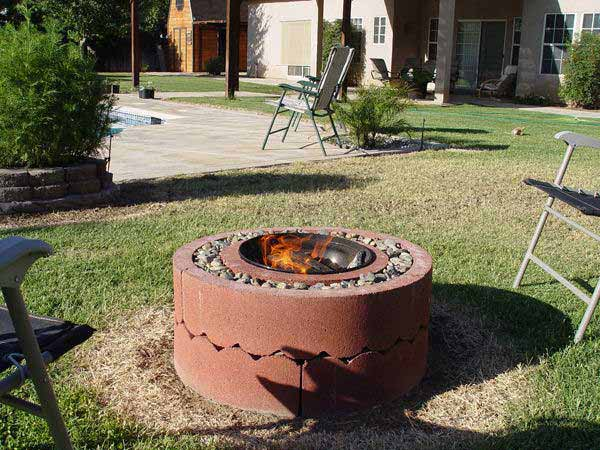 A FIRE PIT  ENHANCES ANY SETTING
