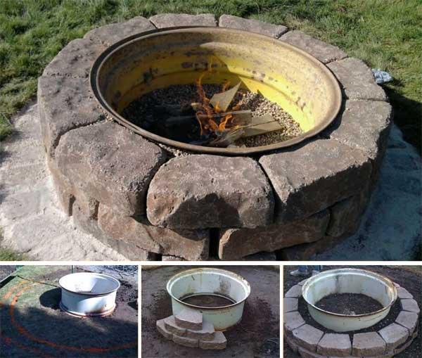 UPCYCLE AN OLD TRACTOR WHEEL INTO A COOL FIRE PIT