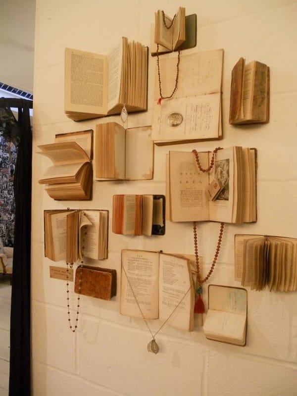 Book Jacket Wall Art : Delicate book project ideas worth considering