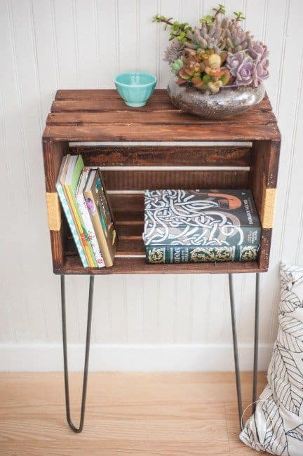 11. PLANT A WOODEN CRATE ON HAIRPIN LEGS