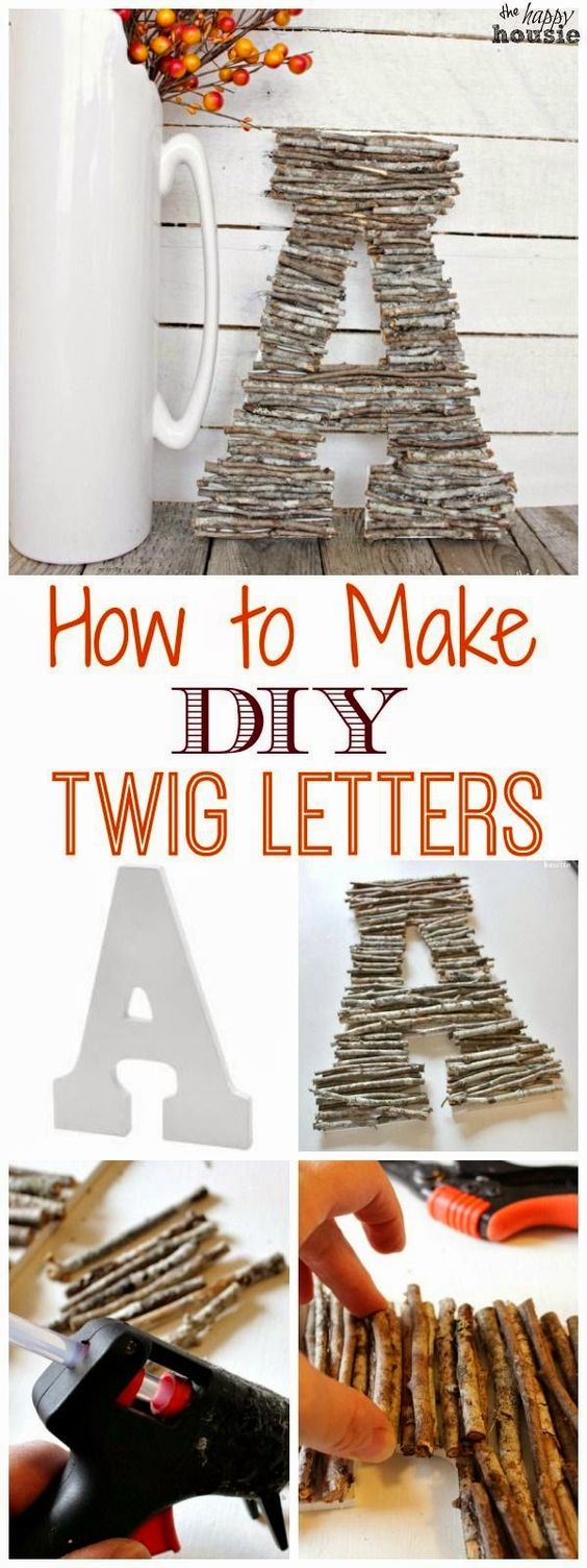 CRAFT DIY TWIG LETTERS FOR A RUSTIC DECOR
