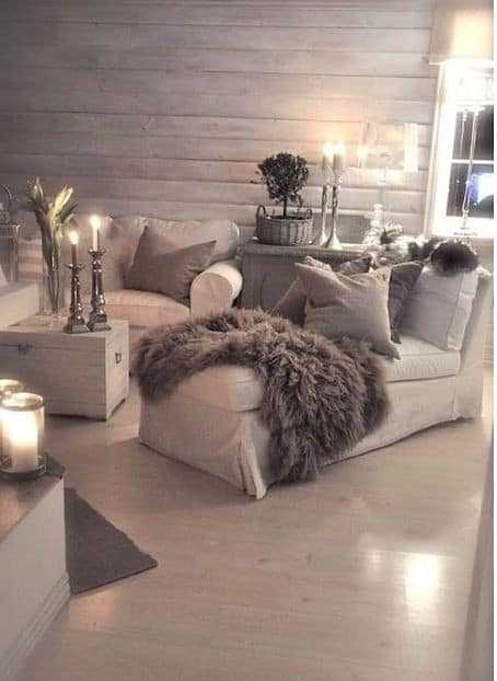 romantic setting in taupe colors