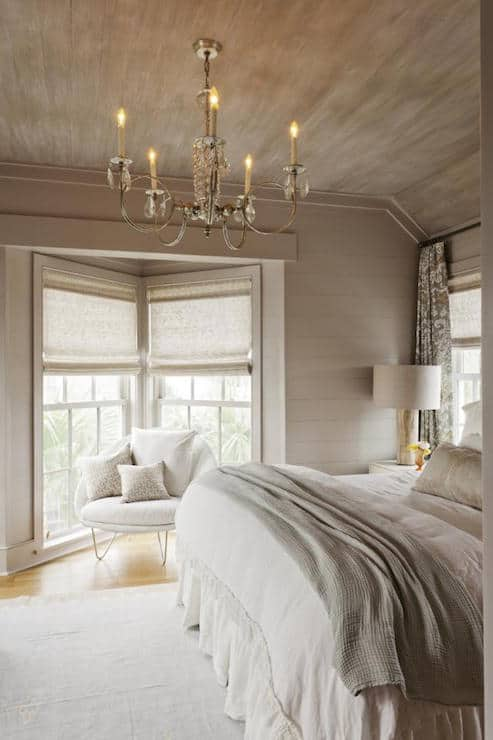 country bedroom uses taupe in the beige color area