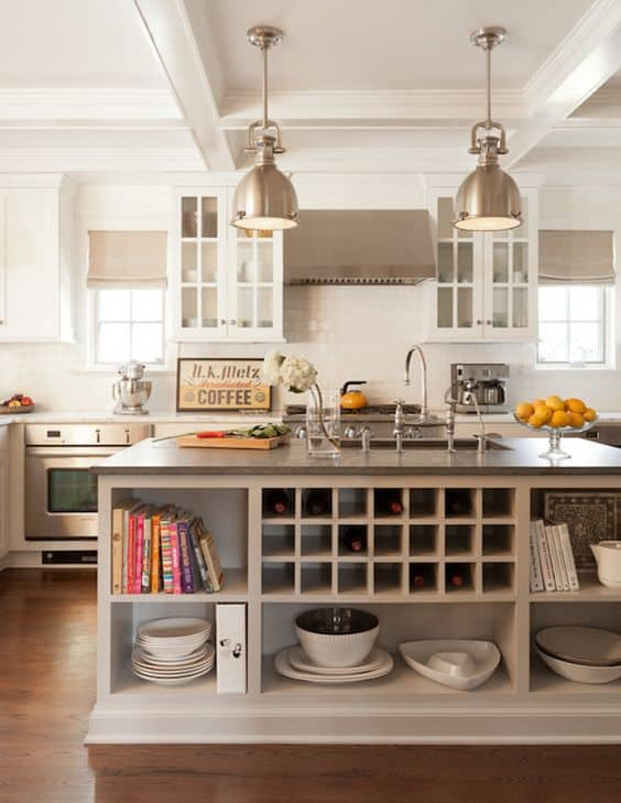 elegance and balance in taupe colored kitchen