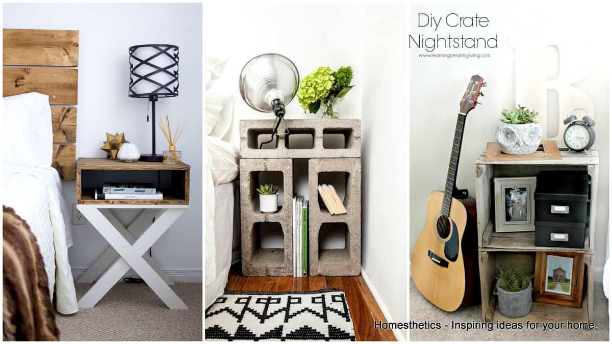 33 Simply Brilliant Cheap DIY Nightstand Ideas